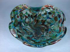 Millefiori Ashtrays | Very Fine Italian Murano Glass Millefiori Ashtray / Bowl / Vase C ...
