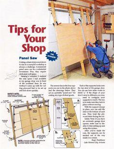 DIY Panel Saw - Circular Saw Tips, Jigs and Fixtures | WoodArchivist.com
