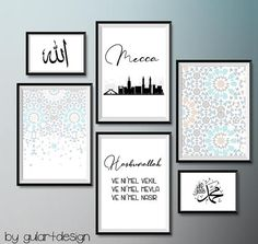 I am pleased to add this article from my shop to you to present: Islam, Mecca, Mecca, Mekke, I Islamic Quotes, Islamic Posters, Islamic Art, Islamic Calligraphy, Calligraphy Art, Prayer Corner, Islamic Wall Decor, Photo Deco, Tableau Design
