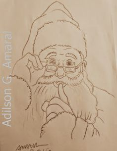 Arte * Vida: Pintura de Natal Papai Noel