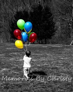 Balloon picture idea for 3rd (or any other) birthday