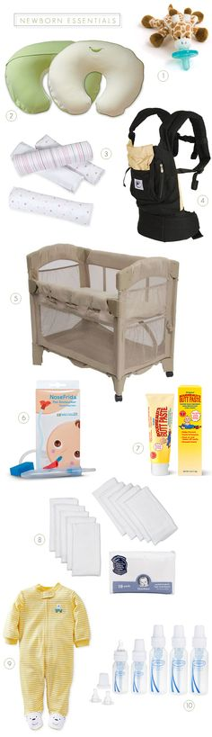 10 Essential Newborn Products (via Bubby and Bean)
