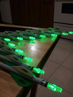 Quest arrows all fletched with our new Blazers and new green Lumenoks!