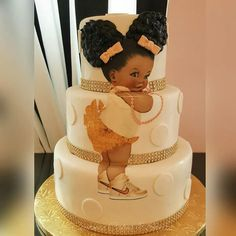 Baby girl image from Divine Digital Diva on Etsy Cake by @couturecakesandsweets