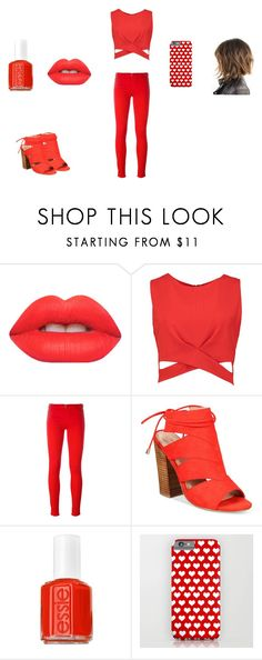 Red and rosey Essie, Lime Crime, Moschino, Boohoo, Lush, Spring, Polyvore, Red, Stuff To Buy
