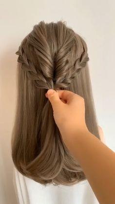 So creative 😍😍 Easy Hairstyles For Long Hair, Pixie Hairstyles, Cute Hairstyles, Wedding Hairstyles, Office Hairstyles, Anime Hairstyles, Stylish Hairstyles, Hairstyles Videos, Hairstyle Short