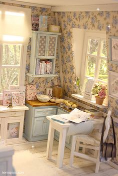 Country Blue Attic | by Keera on Flickr #miniature #dollhouse #roombox