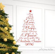 Christmas Decor Christmas Wall Decal Christmas Prayer Vinyl