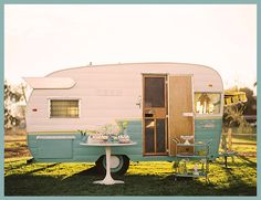 A little vintage trailer would be a nice place from which one might sell baked goods or books, don't you think?