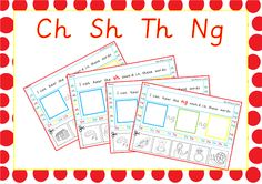 Phase 3 Cut and Stick Activity with ch, sh, the and ng digraphs. Available on EpicPhonics.com