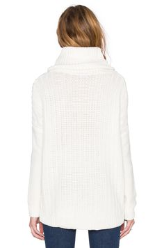 Splendid Stanton Cable Turtleneck Sweater in Natural | REVOLVE