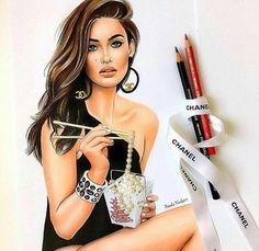 Arte com glamour no traço de Natalia Vasilyeva. @OlhardeMahel @navasy #chanel #drawing #ilustração #ilustradora #OlhardeMahel #glamour #fashion #estilo #moda #desenho #illustration #pérolas #designer #fpolhares #instagram #pinterest #facebook #imagem #instapost #style #illustrator http://ift.tt/2dBncWr