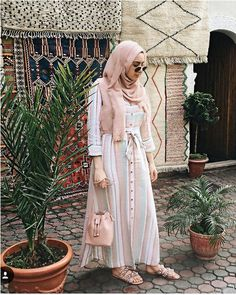 Chiffon and cotton maxi hijab outfits – Just Trendy Girls