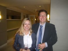 #Attorney Evan Guthrie with Sonya Duvall of Duvall Law Firm at the South Carolina Bar Young Lawyers Division Courthouse Keys event featuring Charleston County Clerk Of Court Julie Armstrong at the office of Nelson Mullins in Charleston, SC on Tuesday November 11, 2014.