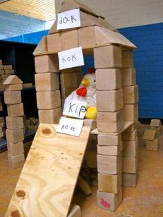Kippenhok in de bouwhoek:juf Florine Maarsingh :: florinehorizon.yurls.net