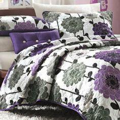 Mizone Clarissa Polyester Microfiber Floral Printed 3-piece Quilt Set