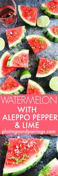 Sprinkle watermelon with Aleppo chili pepper, lime zest, and salt for an…