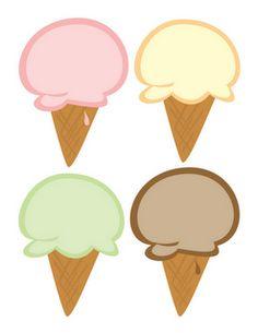 Printable Ice Cream Cards