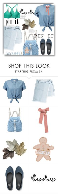 """""""Untitled #1575"""" by kriz-nambikatt ❤ liked on Polyvore featuring Miss Selfridge, Sandy Liang, Salvatore Ferragamo, Chanel, Chicnova Fashion, FitFlop and Hollister Co."""