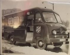 Vintage photo found at The Salvation Army in New London, CT. This picture displays an early version of an Emergency Disaster Service Vehicle that was apparently operating out of Hartford, CT. We believe this vehicle may have been used during the late 40's to early 50's.