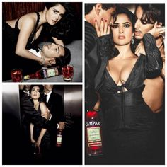 #Campari Red Passion campaign 2007 with #SalmaHayek.These are the hotter photos from the shoot!