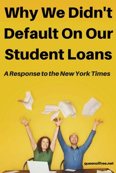 Paying off over $127K in debt was not easy or pretty, but I will never regret the choice not to default on our student loans.