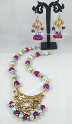 Price For Orders, Whatsapp to 8754032250 We Ship to all Countries Silk Thread Bangles Design, Silk Thread Necklace, Silk Bangles, Beaded Necklace Patterns, Thread Jewellery, Jewelry Patterns, Handmade Necklaces, Handcrafted Jewelry, Gold Gold