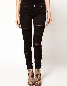 ripped distressed jeans