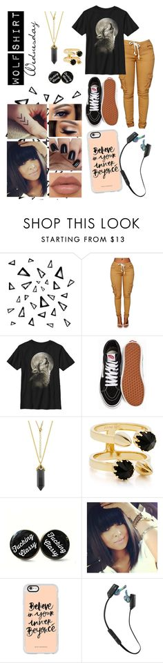 """Wolf Shirt Wednesday p.16"" by a-valen ❤ liked on Polyvore featuring Nika, Vans, Joomi Lim, Casetify, Skullcandy, wednesday, wolfshirtwednesday and oopsitismidnight"