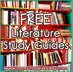 OVER 70 FREE Literature Study Guides