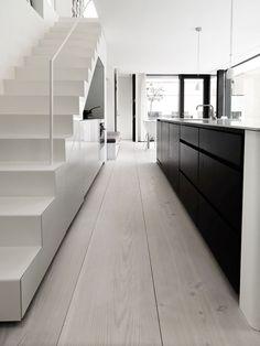 #interior design #kitchen design #stairs #light wood floors #minimalism #style #inspiration