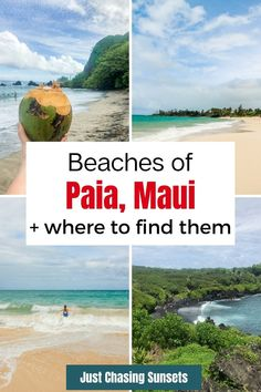Travel to Paia Maui and discover some of the most beautiful beaches in Hawaii. There are plenty of other things to do in Paia like the Road to Hana. You'll have a great Maui Vacation by reading the tips in this post! Beautiful Vacation Spots, Most Beautiful Beaches, Beautiful Places To Travel, Cool Places To Visit, Maui Travel, Solo Travel, Travel Tips, Trip To Maui, Maui Vacation