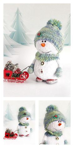Amigurumi Small Snowman Free Pattern – Amigurumi Free Patterns And Tutorials : Amigurumi Small Snowman Free Pattern – Amigurumi Free Patterns And Tutorials Crochet Dolls Free Patterns, Christmas Crochet Patterns, Amigurumi Patterns, Crochet Buttons, Cute Crochet, Crochet Toys, Handmade Christmas Decorations, Diy Christmas Ornaments, Knitting Projects