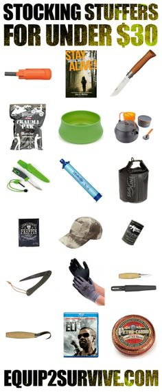 STOCKING STUFFERS FOR UNDER $30 FOR YOUR FAVORITE ADVENTURER!!!