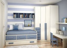 Paint and color accents. 2014 cool boys he bedroom decoration ideas 1 Boys Bedroom Cool Decoration 2014 Small Teenage Bedroom, Teen Bedroom Designs, Small Room Bedroom, Girls Bedroom, Bedroom Decor, Corner Bunk Beds, Beds For Small Spaces, Baby Boy Room Decor, Kids Room Design