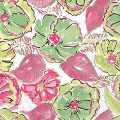 IHR Rosanne Beck Caladium Garden Floral Printed 3-Ply Paper Luncheon Napkins Wholesale L707700