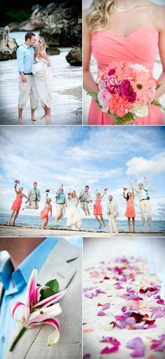 Colorful Beach Wedding at Dreams Palm Beach Punta Cana – Style Me Pretty