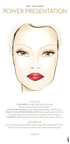 Get the Look: Power Presentation. How do you #LuxeItUp? #Sephora #Givenchy #Hourglass #Dior #MarcJacobs #beauty #makeuptutorial