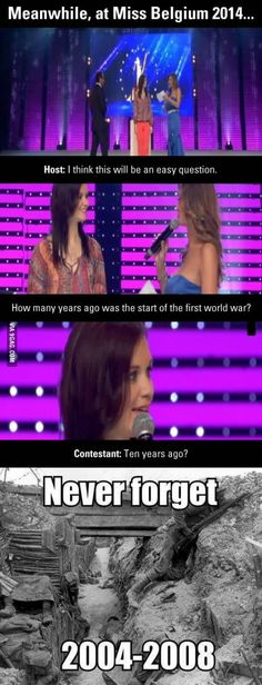 Meanwhile, at Miss Belgium 2014...fail!