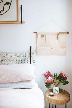 A Pair & A Spare | DIY Canvas Wall Pocket