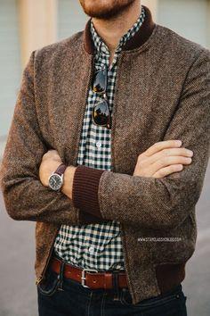 stayclassic:  December 3, 2013. Jacket:Camden Tweed-Bonobos(c/o)Shirt:Secret Wash in Addison Gingham- J. Crew - $48Jeans:American Eag...