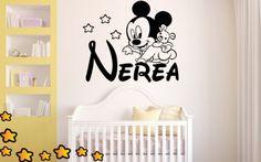 Buenos días amigos os dejamos con un precioso vinilo infantil de Mickey Mouse bebé a gatas encima del nombre de tus hijos. Disfruta decorando un espacio atractivo y personalizado para los peques de la casa. https://www.vinilosinfantiles.com/vinilo-el-bebe-mickey-a-gatas-v1600?search_query=mickey&results=7