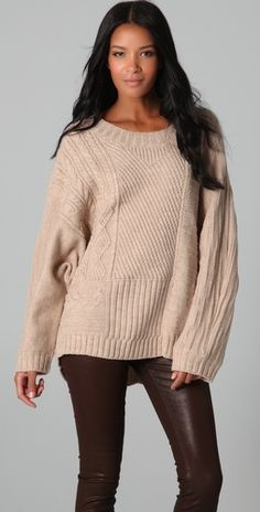 HHH by Haute Hippie Layer Up Oversized Sweater $395