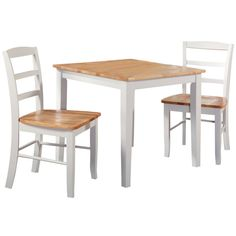 30-inch Square Natural/ White 3-piece Dining Set - Overstock™ Shopping - Big Discounts on Dining Sets