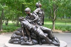 Twenty-one years ago today, November 11, 1993, for the first time in America's history, a memorial that honors women's patriotic service was dedicated in our nation's capital, placed beside their brother soldiers on the hallowed grounds of the Vietnam Veterans Memorial in Washington, DC. The Vietnam Women's Memorial, a multi-figure bronze monument designed by New Mexico sculptor Glenna Goodacre, was the first tangible symbol of honor for American women.