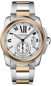 Cartier Watches - Calibre de Cartier Automatic Steel and Gold