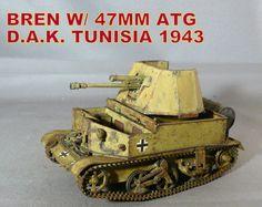 Bren w/47mm ATG DAK Tunisia 1943 (June 1, 2015)