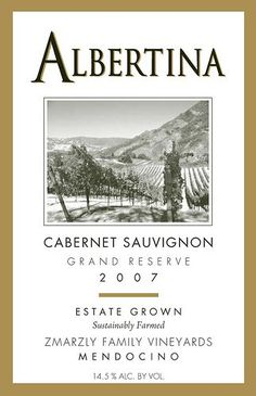 2007 Albertina Gold Medal Winner Grand Reserve Cabernet Sauvignon 1.5 Liter Bottle ** See this great product.