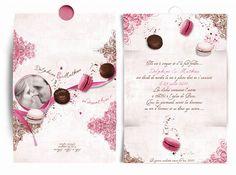 Mariage theme gourmandise - Faire Part