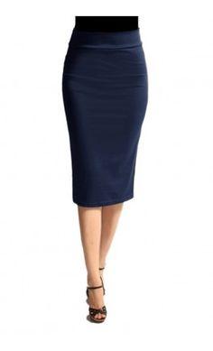 Solid Navy Pencil Skirts. #Apostolic #clothing #modest